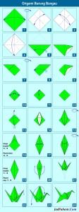 Origami burung bangau