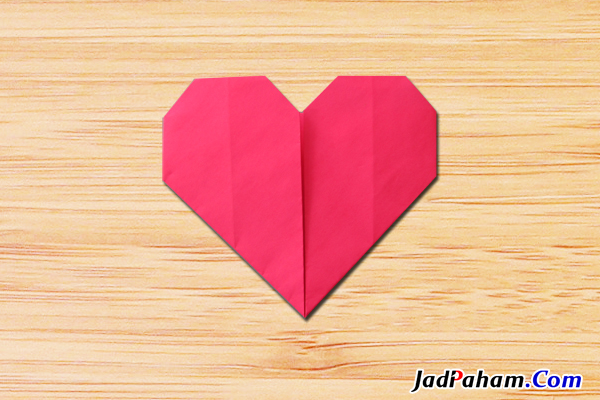 Origami hati heart love
