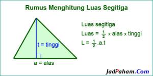 Rumus luas segitiga